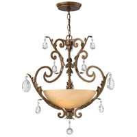 Barcelona 3 Light 21 inch French Marble Chandelier Ceiling Light