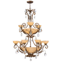 Fredrick Ramond FR44107FRM Barcelona 16 Light 42 inch French Marble Foyer Chandelier Ceiling Light in Tinted Natural Alabaster, Two Tier