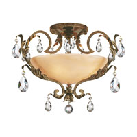 Barcelona 4 Light 31 inch French Marble Semi Flush Ceiling Light