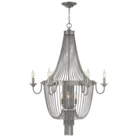 Regis 9 Light 30 inch Brushed Nickel Foyer Chandelier Ceiling Light, Two Tier