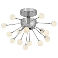 Fredrick Ramond FR44411PCM Impulse LED 15 inch Polished Chrome Semi-Flush Mount Foyer Light Ceiling Light