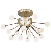 Fredrick Ramond FR44411POG Impulse LED 15 inch Polished Gold Semi-Flush Mount Foyer Light Ceiling Light
