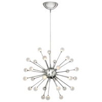 Impulse LED 24 inch Polished Chrome Chandelier Ceiling Light, Single Tier