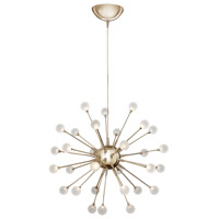 Impulse LED 24 inch Polished Gold Chandelier Ceiling Light, Single Tier