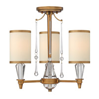 Fredrick Ramond Bentley 3 Light Semi Flush in Brushed Bronze FR44501BBZ