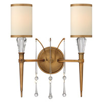 Fredrick Ramond Bentley 2 Light Sconce in Brushed Bronze FR44502BBZ photo thumbnail