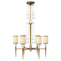Fredrick Ramond FR44506BBZ Bentley 6 Light 27 inch Brushed Bronze Chandelier Ceiling Light in Off-White Cinnamon Trimmed photo thumbnail