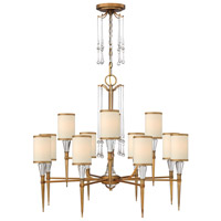 Bentley 12 Light 35 inch Brushed Bronze Chandelier Ceiling Light in Off-White Cinnamon Trimmed
