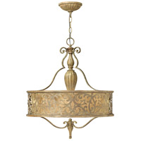 Fredrick Ramond FR44623BCH Carabel 3 Light 21 inch Brushed Champagne Inverted Pendant Ceiling Light
