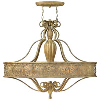 Carabel 6 Light 39 inch Brushed Champagne Foyer Chandelier Ceiling Light