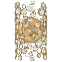 Anya 2 Light 8 inch Silver Leaf Sconce Wall Light