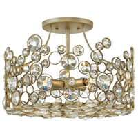 Fredrick Ramond FR44813SLF Anya 4 Light 16 inch Silver Leaf Semi-Flush Mount Ceiling Light photo thumbnail