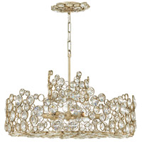 Fredrick Ramond FR44814SLF Anya 6 Light 24 inch Silver Leaf Chandelier Ceiling Light, Single Tier