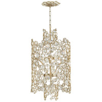 Anya 6 Light 16 inch Silver Leaf Pendant Ceiling Light, Two Tier