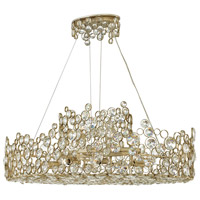 Anya 10 Light 40 inch Silver Leaf Linear Chandelier Ceiling Light