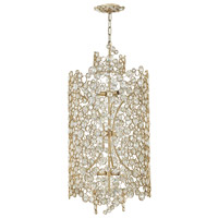 Fredrick Ramond FR44819SLF Anya 9 Light 20 inch Silver Leaf Chandelier Ceiling Light, Three Tier