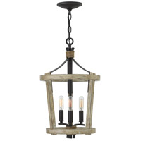 Fredrick Ramond FR45203CWW Sherwood 3 Light 12 inch Cottage Whitewash/Vintage Black Chandelier Ceiling Light