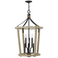Sherwood 6 Light 21 inch Cottage Whitewash Foyer Chandelier Ceiling Light, Two Tier