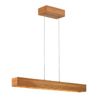Fredrick Ramond Zen 1 Light Pendant in Bamboo FR46205BAM