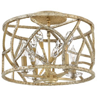 Eve 4 Light 16 inch Champagne Gold Semi-Flush Mount Ceiling Light
