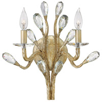 Eve 2 Light 14 inch Champagne Gold Sconce Wall Light