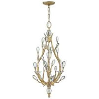 Fredrick Ramond FR46803CPG Eve 3 Light 19 inch Champagne Gold Chandelier Ceiling Light