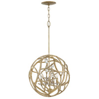 Eve 3 Light 18 inch Champagne Gold Pendant Ceiling Light