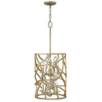 Eve 6 Light 15 inch Champagne Gold Foyer Ceiling Light, Two Tier
