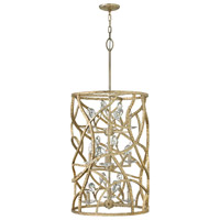 Eve 9 Light 20 inch Champagne Gold Foyer Ceiling Light, Three Tier
