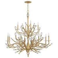 Eve 12 Light 49 inch Champagne Gold Foyer Ceiling Light, Two Tier