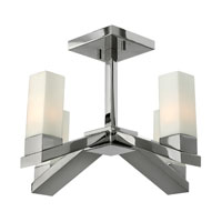 Fredrick Ramond Omni 4 Light Semi Flush in Polished Nickel FR47201PNI