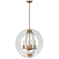 Fredrick Ramond FR47506HRR Solstice 4 Light 24 inch Heirloom Brass Chandelier Ceiling Light, Single Tier