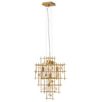 Fredrick Ramond FR47884LGD Petra 4 Light 24 inch Luster Gold Chandelier Ceiling Light, Single Tier