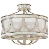 Sirena 4 Light 16 inch Champagne Gold Semi Flush Mount Ceiling Light