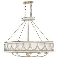 Sirena 6 Light 36 inch Champagne Gold Linear Chandelier Ceiling Light
