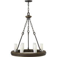 Fredrick Ramond FR48435IRN Cabot 6 Light 24 inch Rustic Iron/Vintage Walnut Chandelier Ceiling Light Single Tier