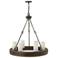 Fredrick Ramond FR48436IRN Cabot 6 Light 28 inch Rustic Iron Chandelier Ceiling Light, Single Tier