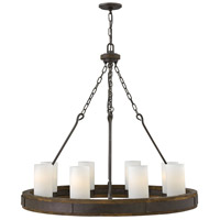 Cabot 8 Light 38 inch Rustic Iron Chandelier Ceiling Light, Single Tier