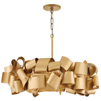 Delfina 5 Light 26 inch Deluxe Gold Chandelier Ceiling Light, Single Tier