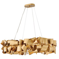 Fredrick Ramond FR48605DXG Delfina 6 Light 40 inch Deluxe Gold Linear Chandelier Ceiling Light