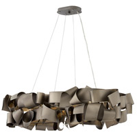Fredrick Ramond FR48605MMB Delfina 6 Light 40 inch Metallic Matte Bronze Linear Chandelier Ceiling Light