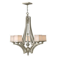 Fredrick Ramond San Simeon 5 Light Chandelier in Silver Leaf FR49195SLF
