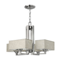 Fredrick Ramond Quattro 4 Light Chandelier in Brushed Nickel FR49454BNI