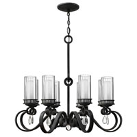 Fredrick Ramond Cabrello 8 Light Chandelier in Black Iron FR49464BLI
