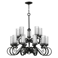 Fredrick Ramond Cabrello 15 Light Chandelier in Black Iron FR49468BLI