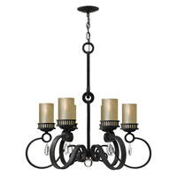 Fredrick Ramond Cabrello 6 Light Chandelier in Black Iron FR49476BLI photo thumbnail