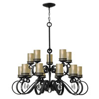 Fredrick Ramond Cabrello 15 Light Chandelier in Black Iron FR49478BLI photo thumbnail