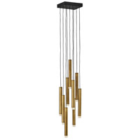 Fredrick Ramond FR49906HBR Harmony LED 8 inch Heritage Brass/Black Pendant Ceiling Light