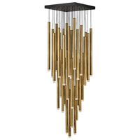 Fredrick Ramond FR49908HBR Harmony LED 18 inch Heritage Brass with Black Pendant Ceiling Light