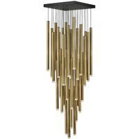Fredrick Ramond FR49908HBR Harmony LED 18 inch Heritage Brass with Black Pendant Ceiling Light